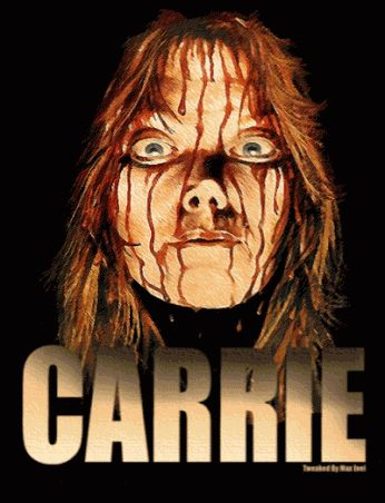 Carrie Gif scary animated movie gif stephen king freaky horror carrie sissy spacek