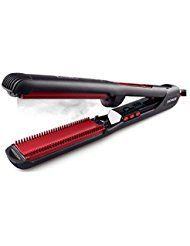 Steam Hair Straightener, Flat Iron, Hair Flat Iron Straightener with STEAM Technology & 3D Curved Surface Heating Panel. For product & price info go to:  https://beautyworld.today/products/steam-hair-straightener-flat-iron-hair-flat-iron-straightener-with-steam-technology-3d-curved-surface-heating-panel/