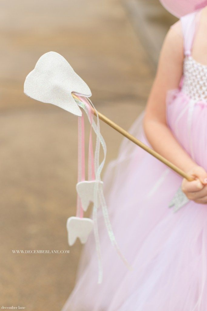 DIY Tooth Fairy Costume | www.decemberlane.com | Tooth Fairy Wand