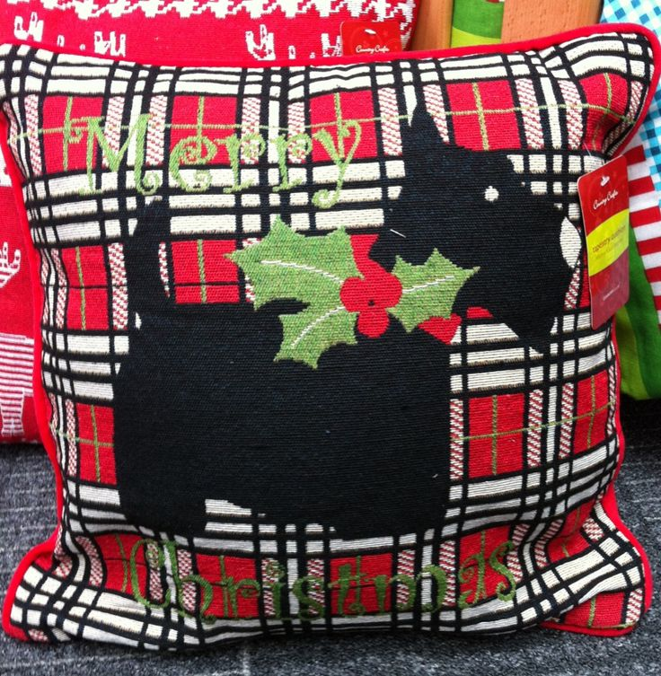 Christmas Cushion - Scottie Dog £10