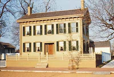 Abraham Lincoln's frame house in Springfield, Illinois, is the only residence our sixteenth President ever owned. It's now preserved for visitors at the Lincoln Home National Historic Site.