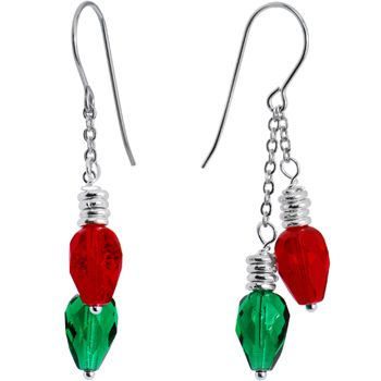 Light up earrings! My daughter loves when I wear earrings like this  - along with my Christmas vest ... Lol