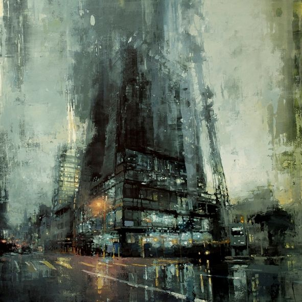 Oil paintings by Jeremy Mann.