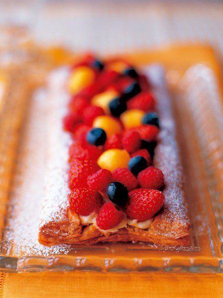 Recipe : Custard and Fruit Pie/フルーツとカスタードのパイ