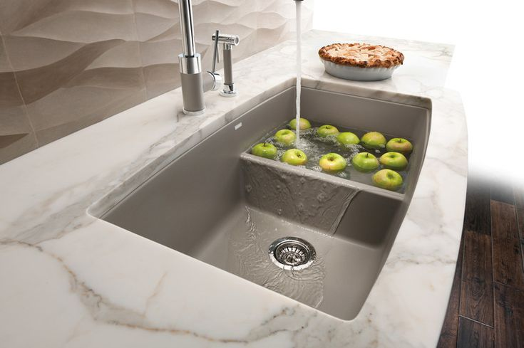 Lowered Divider sink- Allows for easy cleaning of large pots but provides separation of cleaning and food prep