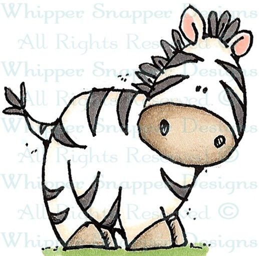 Baby Zeb - Zoo - Animals - Rubber Stamps - Shop