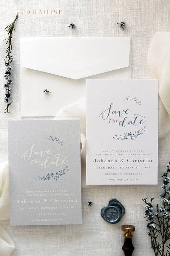 save the date wedding stationery uk%0A Lea Grey Save the Date Cards  Digital Save the Date Card or Printed Save the