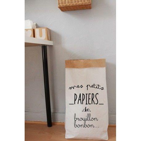 les 25 meilleures id es concernant sac papier sur pinterest poteau de bo te aux lettres aout. Black Bedroom Furniture Sets. Home Design Ideas