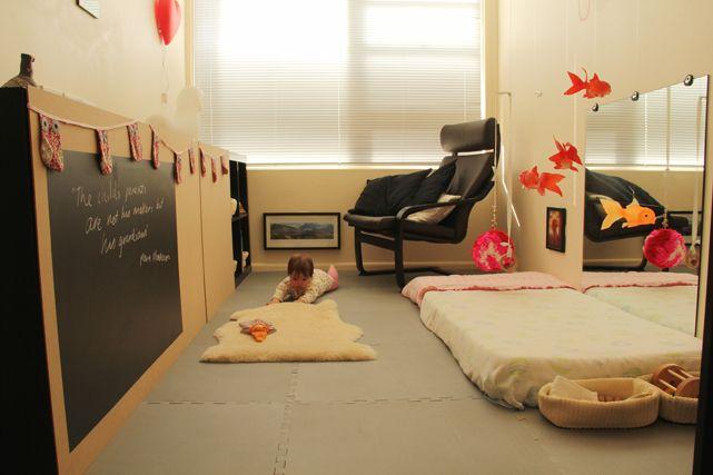 Montessori inspired room in a small apartment