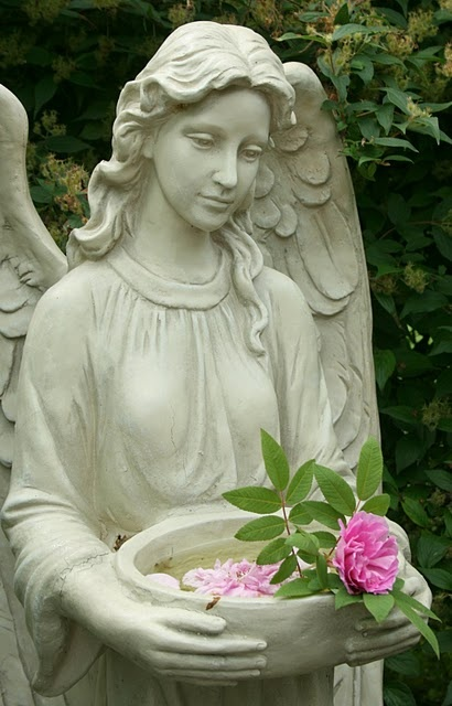 Statues in the garden are so wonderful bird baths are my favorite and used wildly be - Angel statue for garden ...