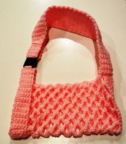 Free crochet pattern by My Recycled Bags for a Crocheted Arm Sling.