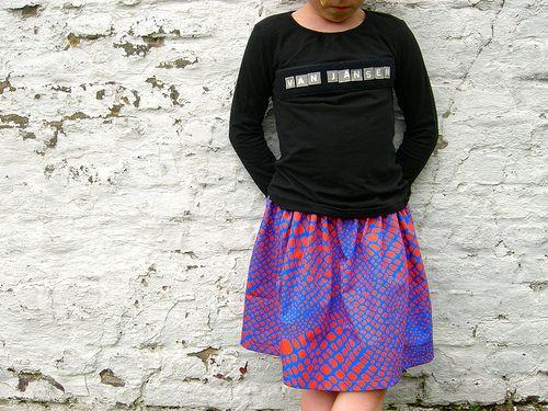 Vink : velcro op t-shirt en versieren maar !