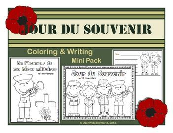 Observe Remembrance/Veterans Day with your young French learners. ($)
