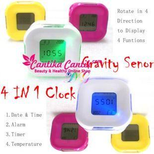 Four Sided Clock Jam Mungil 4 Fungsi. Dapat digunakan sebagai alarm, jam, display tanggal dan menggukur suhu ruangan. **Selengkapnya: http://c-cantik.me/pp1ed **Order Cepat: http://m.me/cantikacantik.id  KONTAK KAMI DI - PIN BBM 2A8FB6B4 - SMS / WA 081220616123 Untuk Fast Response