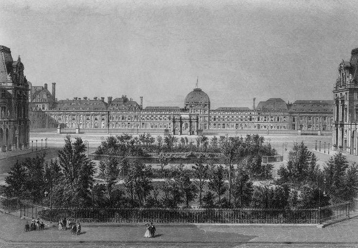 Филибер Делорм. Дворец Тюильри в Париже. После 1564 г. Сад - пирамида Лувра