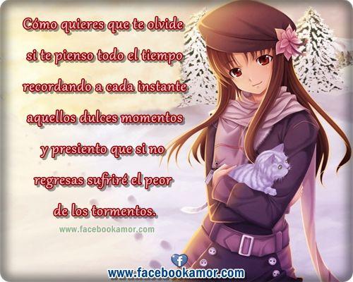 Imagenes De Amor: Imagenes De Amor Con Frases De Amor Para Facebook De Anime