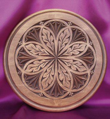 rosette plate Chip carving