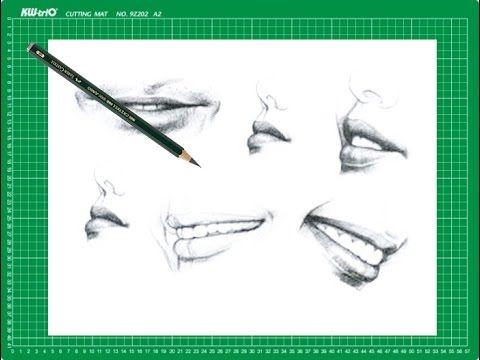 """CURSO de dibujo a lápiz Cap. 9 """"Labios de perfil y la sonrisa"""""""