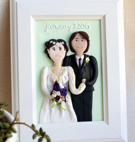 Personalized couples portrait personalized wedding portrait