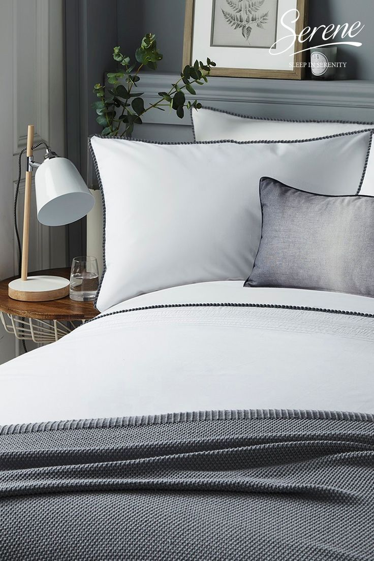 Serene Pom Pom Duvet Cover and Pillowcase Set in 2020