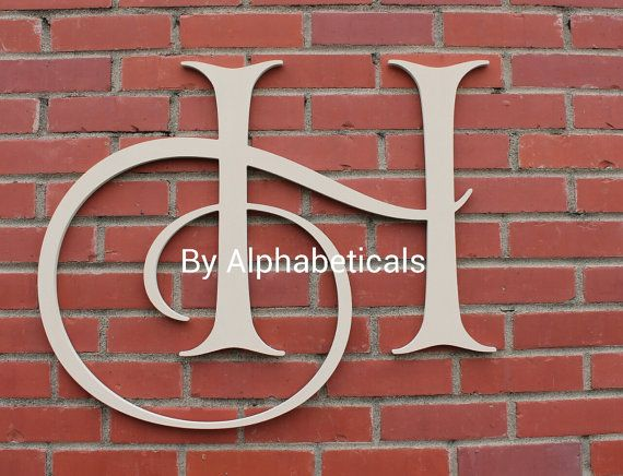 Initial Monogram Wall Decor Wall Letters Wooden Letters Script Dorm Office Wall Hanging Name  Alphabeticals (Click < > for + styles.). I like their d option