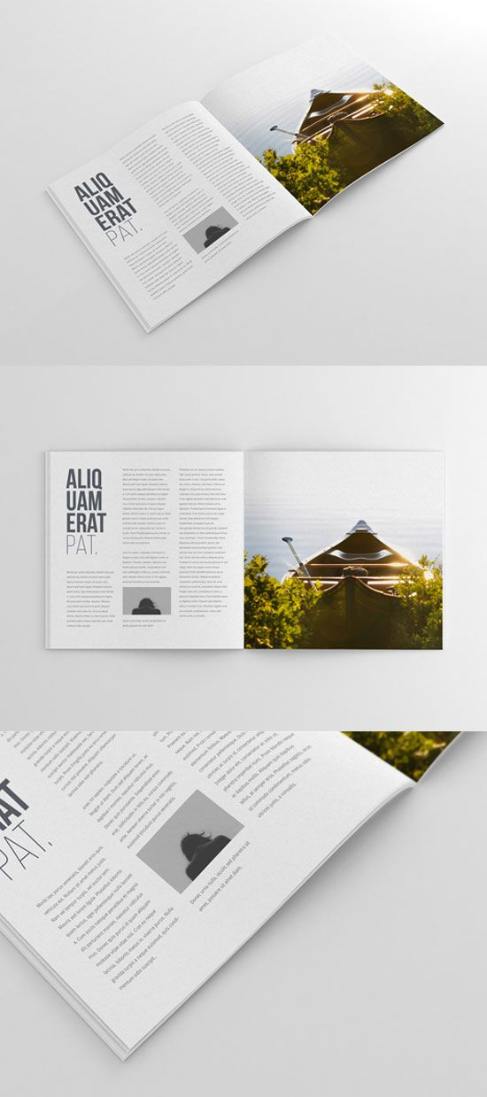 Square Magazine Mockup - Free download! Find more free magazine #mockup templates on iBrandStudio.com