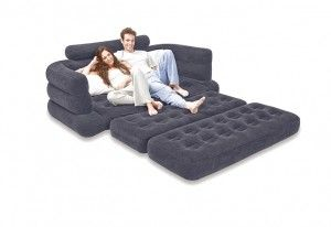 Cozy Gray Sleeper Sofa Loveseat