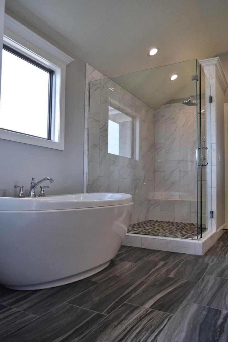 Pin By Bickimer Homes On Model Homes: Glass Shower, Large Master Bath Shower, Freestanding