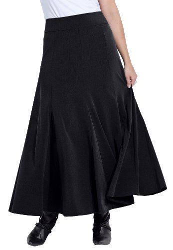 Plus Size Long Flared Skirt (Heather Grey,20 W) BCO. Save 57 Off!. $29.99