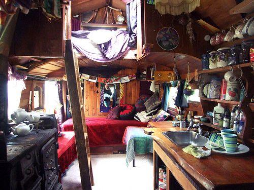 Gypsy denHouseboats, Gypsy Caravan, Dreams House, Trees House, Tiny Spaces, Caravan Interiors, Places, Cozy Spaces, Small Spaces