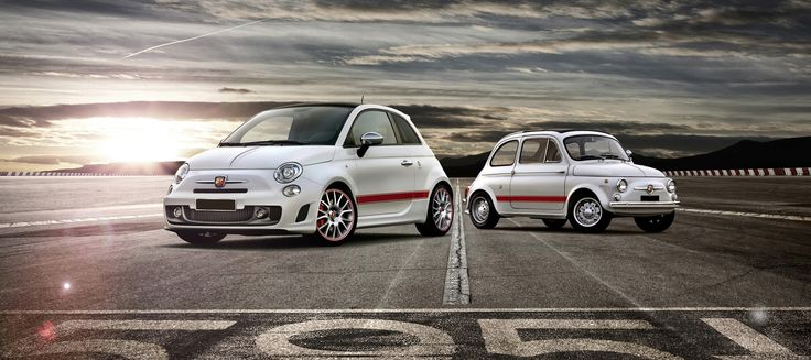The everlasting cool Fiat 500 - new and old - same same - still cool! #fiat #car #fiat500