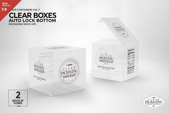 Download Clear Lock Bottom Boxes Mockup Packaging Mockup Design Mockup Free Free Psd Mockups Templates