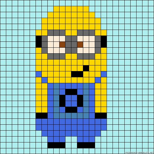 Perler Beads Minion Template