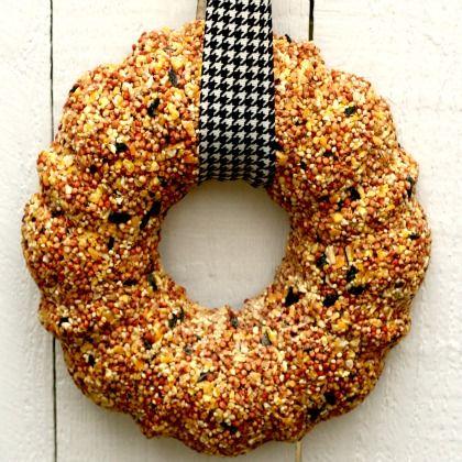 Making a Bird Seed Wreath | Spoonful