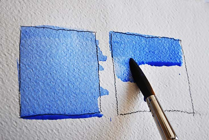 How To Paint A Flat Watercolor Wash On Wet Or Dry Paper Acrylic
