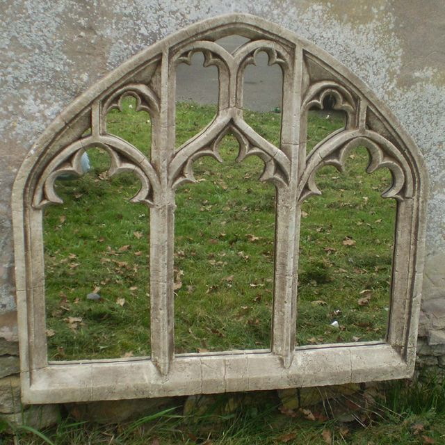 Gothic Garden Decor | Gothic Triple Arch Over Mantle Garden Mirror — The Worm that Turned ...