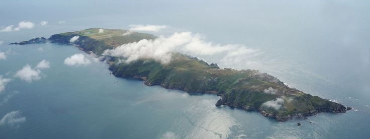 A view of Lundy from the air