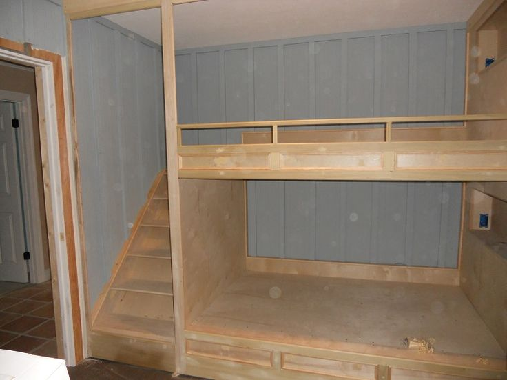 built in bunks with stairs | built in bunk beds - Off-Topic - Wood Talk Online-- Cool idea. if we have 2 girls.