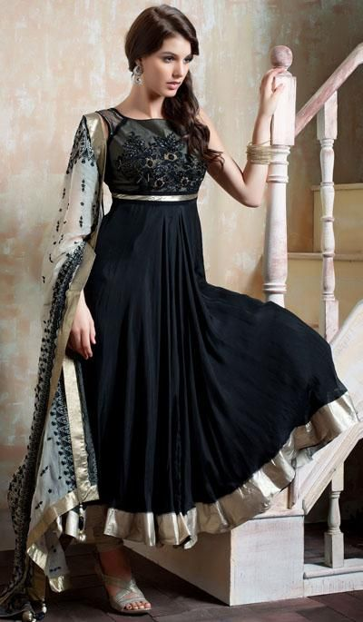 G3fashions Black georgette embroidered designer salwar suit  Product Code: G3-LSA107167 Price: INR RS 10702