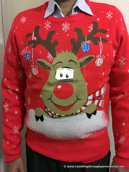 Moving Eyes Rudolph Christmas Jumper by MorphCostumes