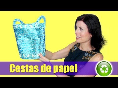 DIY Cestas de papel periódico. Newspaper baskets. - YouTube