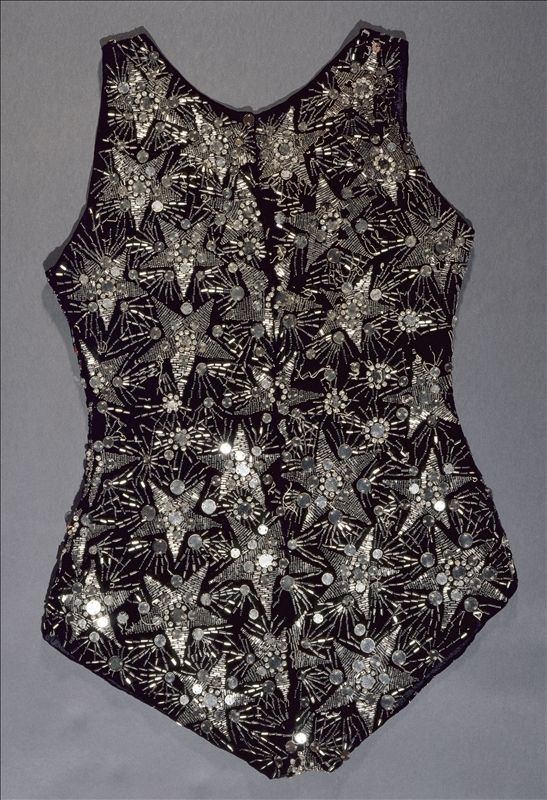 Maillot by Jeanne Lanvin, summer 1924, at the Palais Galliera, musée de la Mode de la Ville de Paris. Worn during a poolside soirée at the home of Marie-Laure de Noailles in Hyères.