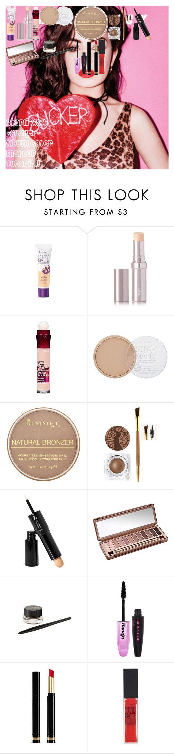 "Charli XCX ""Sucker"" Album Cover Makeup Tutorial! by oroartye-1 on Polyvore featuring beauty, La Mer, Urban Decay, tarte, Gucci, Rimmel, L'Oréal Paris, Maybelline, e.l.f. and Charli"