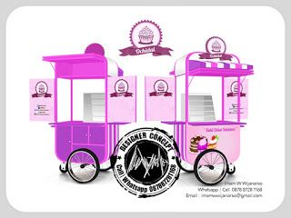Desain Logo | Logo Kuliner |  Desain Gerobak | Jasa Desain dan Produksi Gerobak | Branding: Desain Gerobak Dorong Ochidai