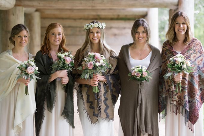 Fall bridesmaids christie graham photography glamour for Casual mountain wedding dresses