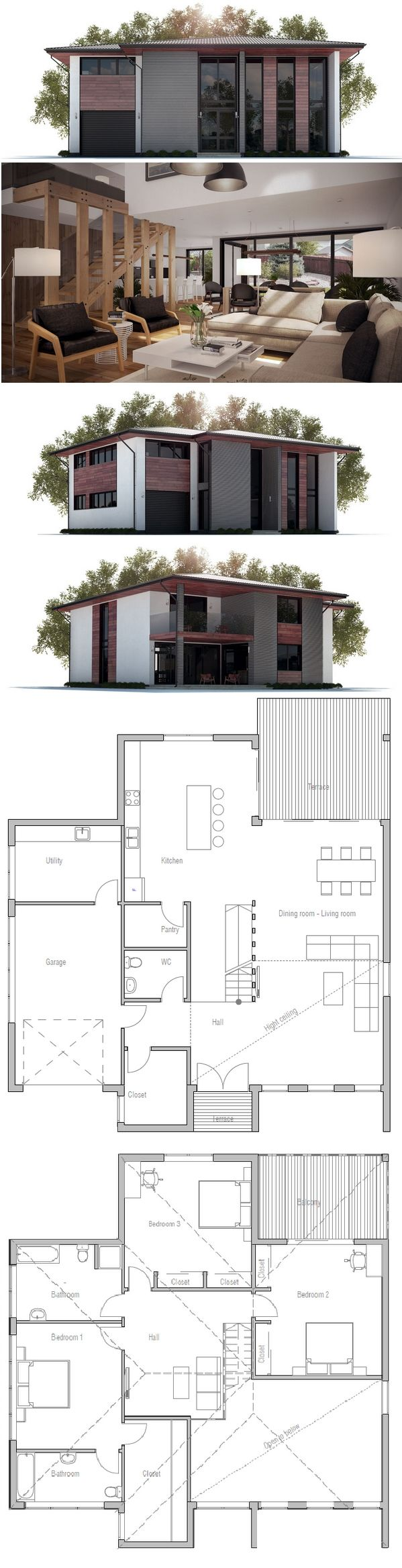 Modern House Plan 422 best planos images