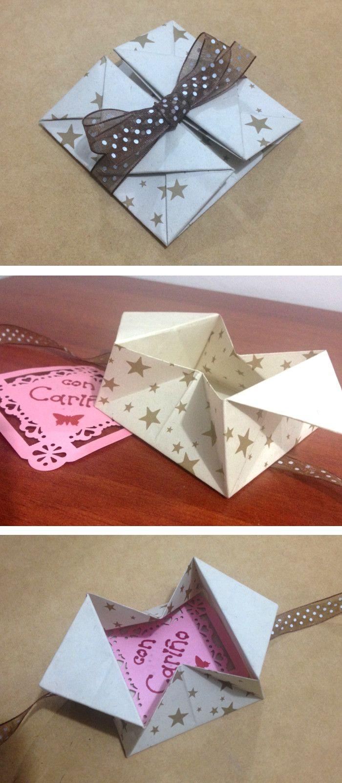 Te enseño a hacer un sobre muy original para guardar y entregar tus cartas, es muy lindo y fácil.