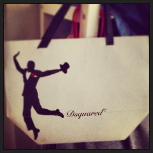 My most favourite label in the world, Dsquared. I bought an aftershave from there Milan store. This was the bag they put it in. Awesome.