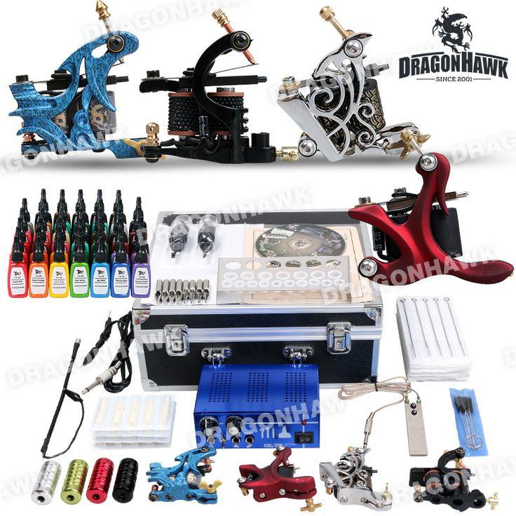 Professional Tattoo Kit 4 Top Machines 40 Color Inks Power [DIY-409(5.5-USO-MGT-8)] - US$113.69 : Dragonhawk tattoo supplies, tattoo kits,tattoo machines for sale global form tattoodiy.com