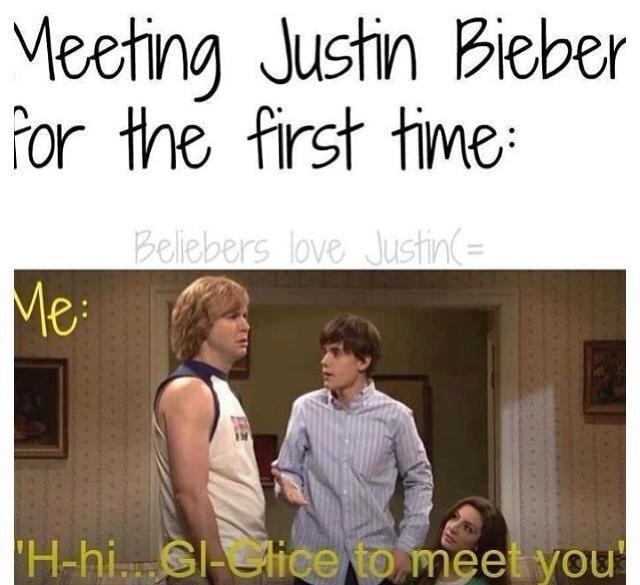 justin bieber snl glice to meet you